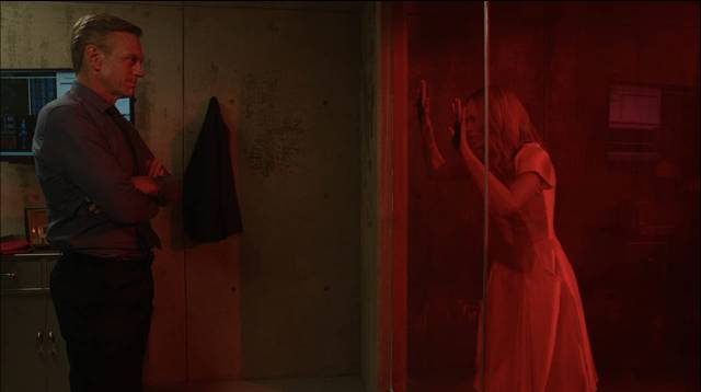 Rose (Laura Vandervoort) is subjected to illicit medical experiments in the Soska Sisters' Rabid (2019)