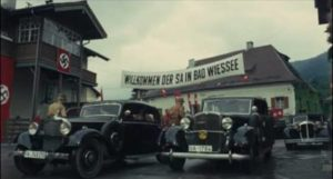 The SA arrive in Bad Wiessee for rest and relaxation in Luchino Visconti's The Damned (1969)