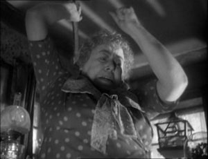 The village postmistress takes action in Cavalcanti's Went the Day Well? (1942)
