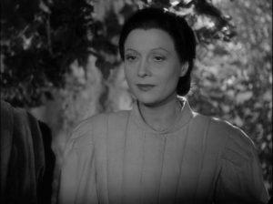 Dominique (Arletty) delights in inflicting torment on mortals in Marcel Carné's Les visiteurs du soir (1942)