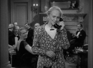Anita (Fay Bainter)'s bridge students listen to Lucy (Beulah Bondi)'s emotional phone call in Leo McCarey's Make Way for Tomorrow (1937)