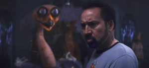 Nic Cage wonders what the hell he's doing in Kevin Lewis's Willy's Wonderland (2021)